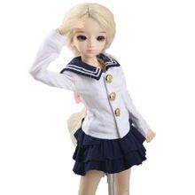 wamami 300# Navy Skirt Outfit Uniform 1/4 MSD SD DZ AOD BJD Dollfie Doll