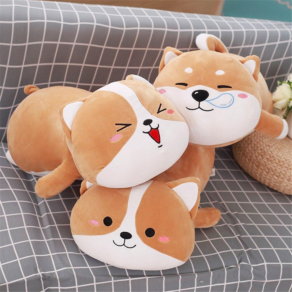 Fancytrader Мягкие Аниме Лежа Игрушки Плюшевые собаки Подушка большие милые мягкие животные собака кукла 80 см/60 см