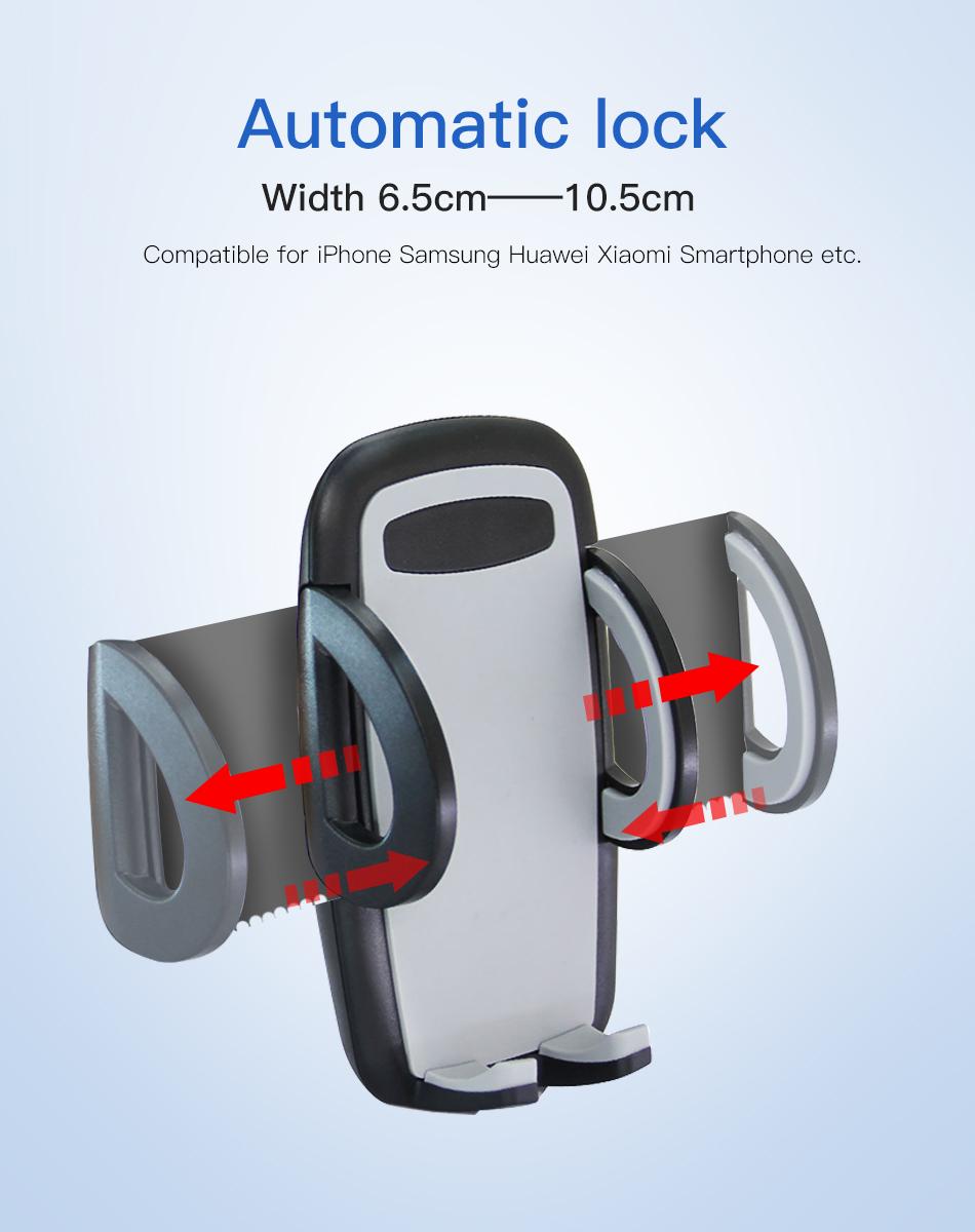 !ACCEZZ Car Phone Holder For iphone X 8 7 XR XS MAX Huawei Samsung Xiaomi Universal Car Gravity Sucker Smart Phone Stand Bracket (3)