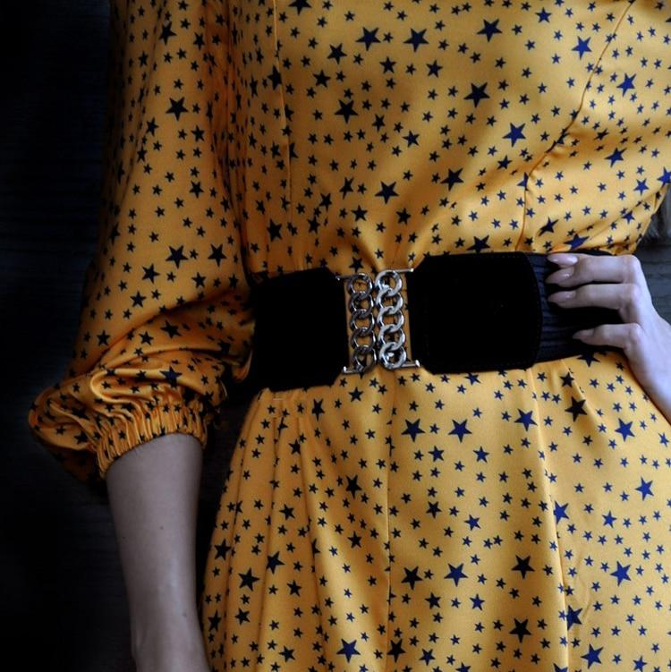New Black Cummerbunds Female Woman Belt Zipper Cummerbund Wide Women's Belts Fashion Dress Waistbands Lady