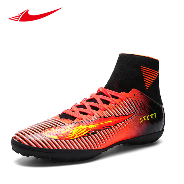 Beita Alta-Top Sapatos Masculinos De Futebol Meias Sapatilhas Adolescentes  Sapatos de Futebol Turf Chuteiras 3038a5f6f84c7