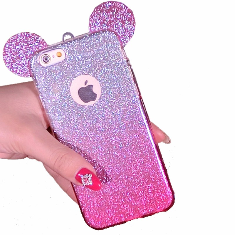 Caseingood 3d Minnie Mickey Mouse Ears Phone Case For
