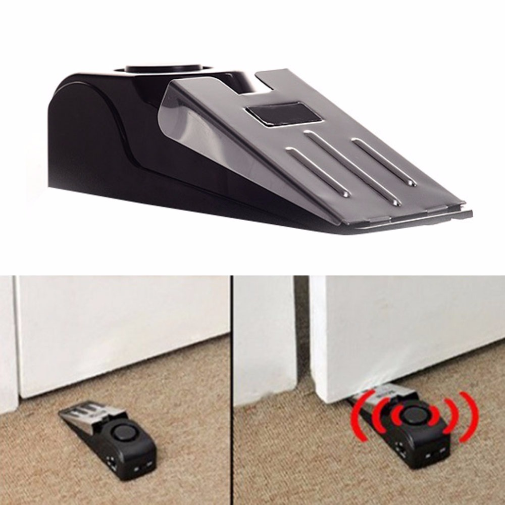 Hot Sell sensor Door Stop Alarm Wireless Home Travel Security System Portable Safety Wedge FC high quality hot sale 100db wireless alarm system burglar safely security window door home magnetic sensor best promotion