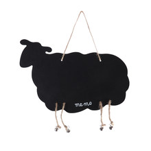 Mini Chalkboards Cute Sheep Shaped Blackboard Message Board Signs Hanging Memo Board Guest Book For Wedding(China)