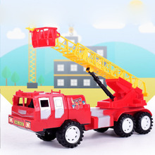 Children's Alloy Fire Model Line Fire Truck Series Mini Ladder Water Cannon Model Die-casting Birthday Gift Toy Set недорого