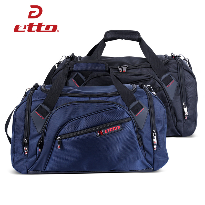 Etto Professional Single Shoulder Gym Bag Big Capacity With Independent Shoes Storage Portable Ball Sports Fitness