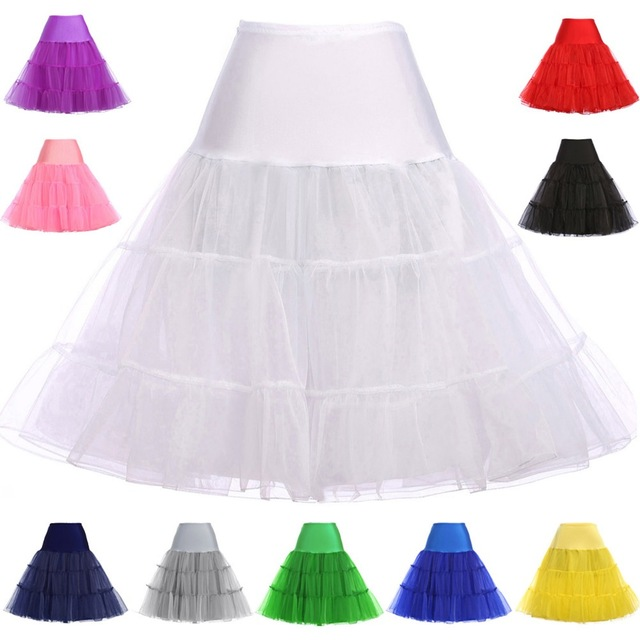 In Stock 60 Cm Petticoats For Wedding Dress Crastal Yarn Waist Elastic Short Wedding Petticoat Bridal Underskirt Women Crinoline