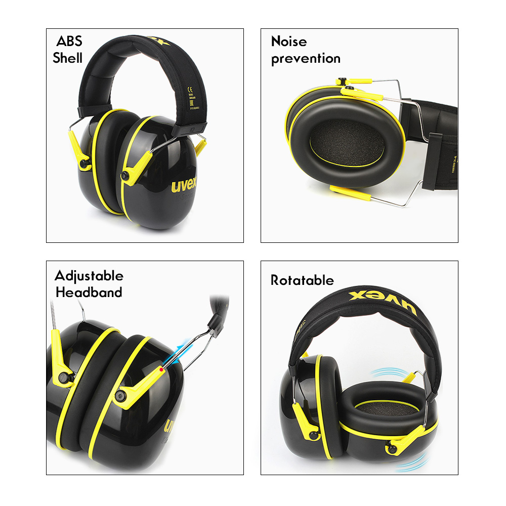 Image 2 - UVEX K2 Soundproof Earmuffs Noise Reduction Earmuffs 32dB SNR Adjustable Headband Industrial Working Sleeping Travel SoundproofEar Protector   -
