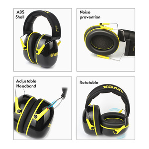 Image 2 - UVEX K2 Soundproof Earmuffs Noise Reduction Earmuffs 32dB SNR Adjustable Headband Industrial Working Sleeping Travel Soundproof
