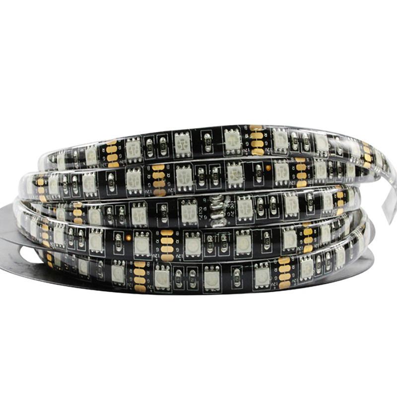 Black-PCB-5M-Led-Strip-Light-5050-RGB-300-Leds-Waterproof-IP65-DC12V-Flexible-LED-Car (1)