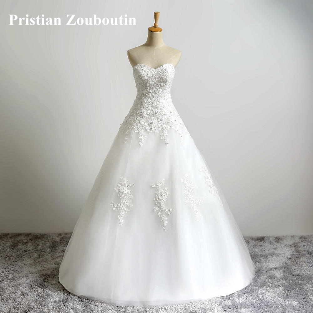 Fast Shipping Top Quality Designer Wedding Dress Strapless