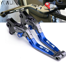 Brake Clutch Lever For SUZUKI GSX-R GSXR1000 2009-2016 GSXR 600 GSXR 750 2011-2016 Motorcycle Adjustable Folding Extendable Blue extendable folding brake clutch lever for suzuki gsxr 600 750 06 10 gsx 1000 r 05 06 cnc adjustable new