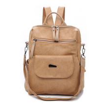 цены на Vintage Retro Women Backpack School bags Soft PU Leather Bag travel Backpacks For Teenage Girls Mochila Feminine Shoulder Bag  в интернет-магазинах