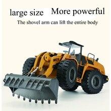 RBR/C HUINA 583 büyük uzaktan kumanda yükleyici elektrikli tüm alaşımlı yapı araç modeli oyuncak vida vida buldozer