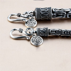 Image 3 - GAGAFEEL Genuine 100% Real Pure 925 Sterling Silver Men bracelets Dragon Head Vintage Thai Silver Men jewelry Fine jewelries