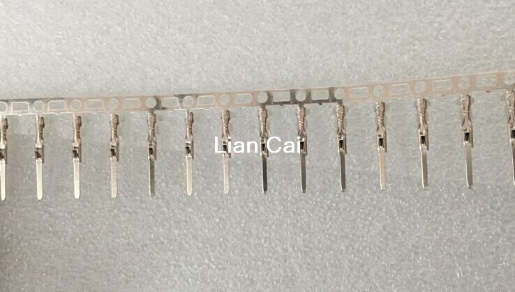 100 PCS 2.54mm Male Dupont Jumper Wire Terminal Connector Pins Crimp Copper