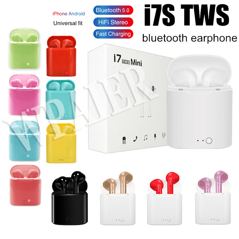 I7S Bluetooth Earphones Portable Wireless Mini Headphones With Charging Box Mini Bluetooth Headsets Universal Type I7S TWS