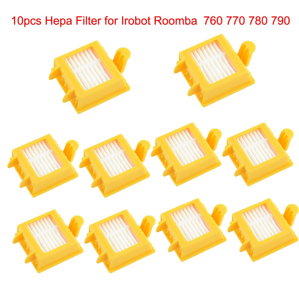 10pcs Hepa Filter Clean Replacement Tool Kit Fit for iRobot Roomba 700 Series 760 770 780 790 Free Shipping