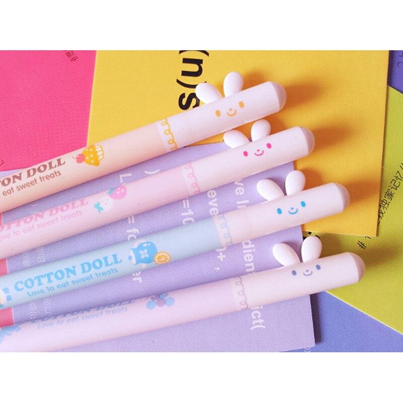 G04 3X Cute Kawaii Rabbit Gel Pen Writing Signing Pen School Office Supply Kids Gift Rewarding Writing Stationery