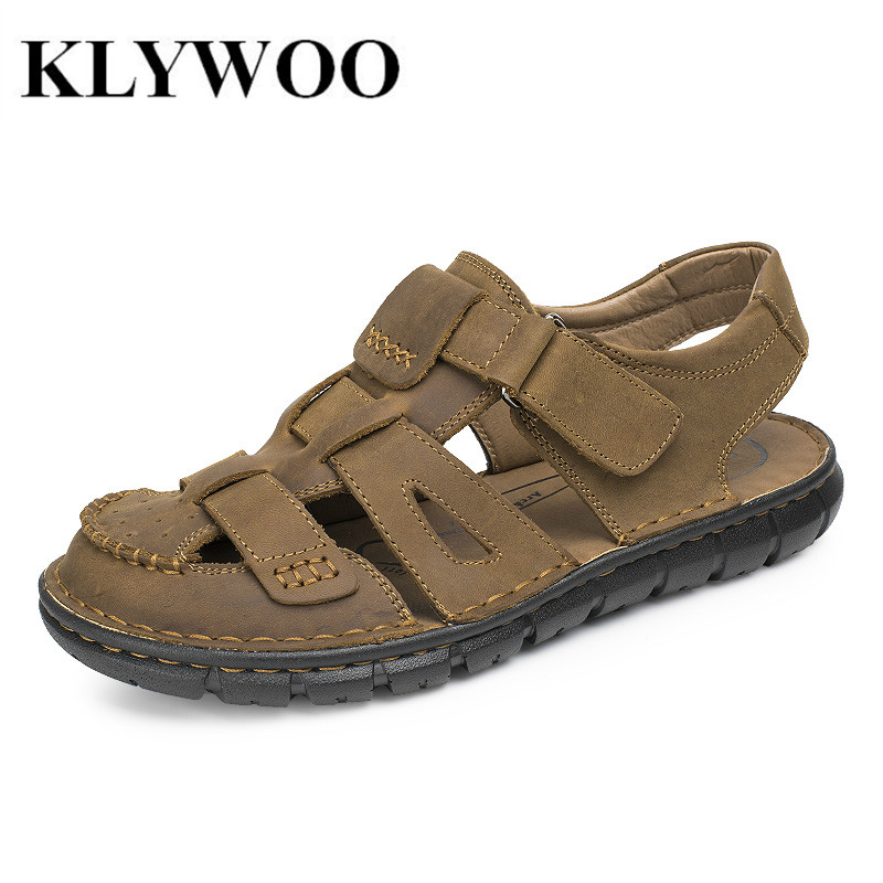 ヾ ノfashion sandals genuine 웃 유 leather leather