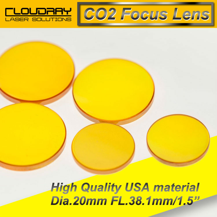 High Quality ZnSe Focus Lens CO2 Laser Engraving Cutter  DIa. 20mm Focal 38.1mm 1.5 Free Shipping