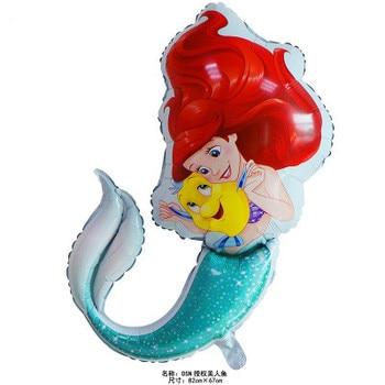 Lucky 50pcs/lot 82*67cm Cartoon Little Mermaid Foil Helium Balloons Birthday Wedding Party Supplies Decoration Globos Kids Toys