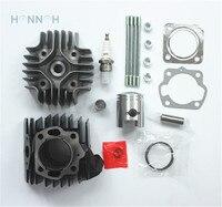 41MM Cylinder Piston Rings Gasket Spark Plug Kit For Suzuki LT 50 LT50 1984 85 86
