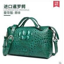 Gete 2016 new crocodile handbag inclined shoulder bag leather shoulder bag handbag Thai female crocodile leather bag