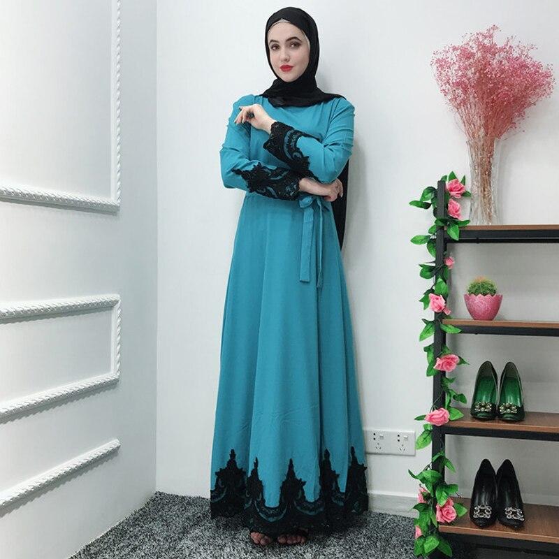 Lace Abaya Robe Dubai Hijab Muslim Dress Kaftans Abayas For Women Caftan Ramadan Turkish Islamic Clothing Robe Femme Musulmane