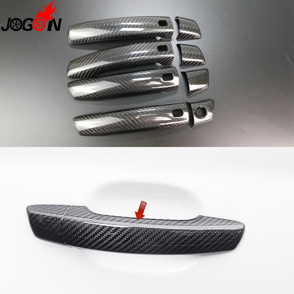 Carbon Fiber For AUDI A3 S3 RS3 2014 2015 2016 2017 Car Body Door Handle Cover