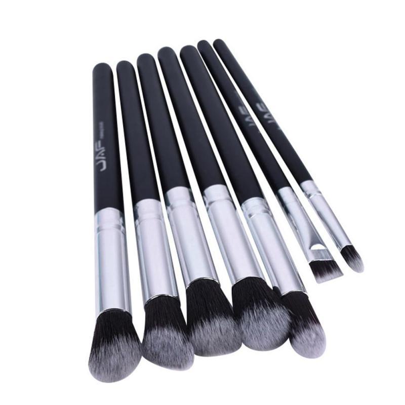 JAF 7 pieces eye shadow lip makeup brush tools Professional Portable Blending Eyeshadow Cheek Lip Brushes Set Y2 six black eye makeup brush brush eye shadow brush black beauty makeup tools
