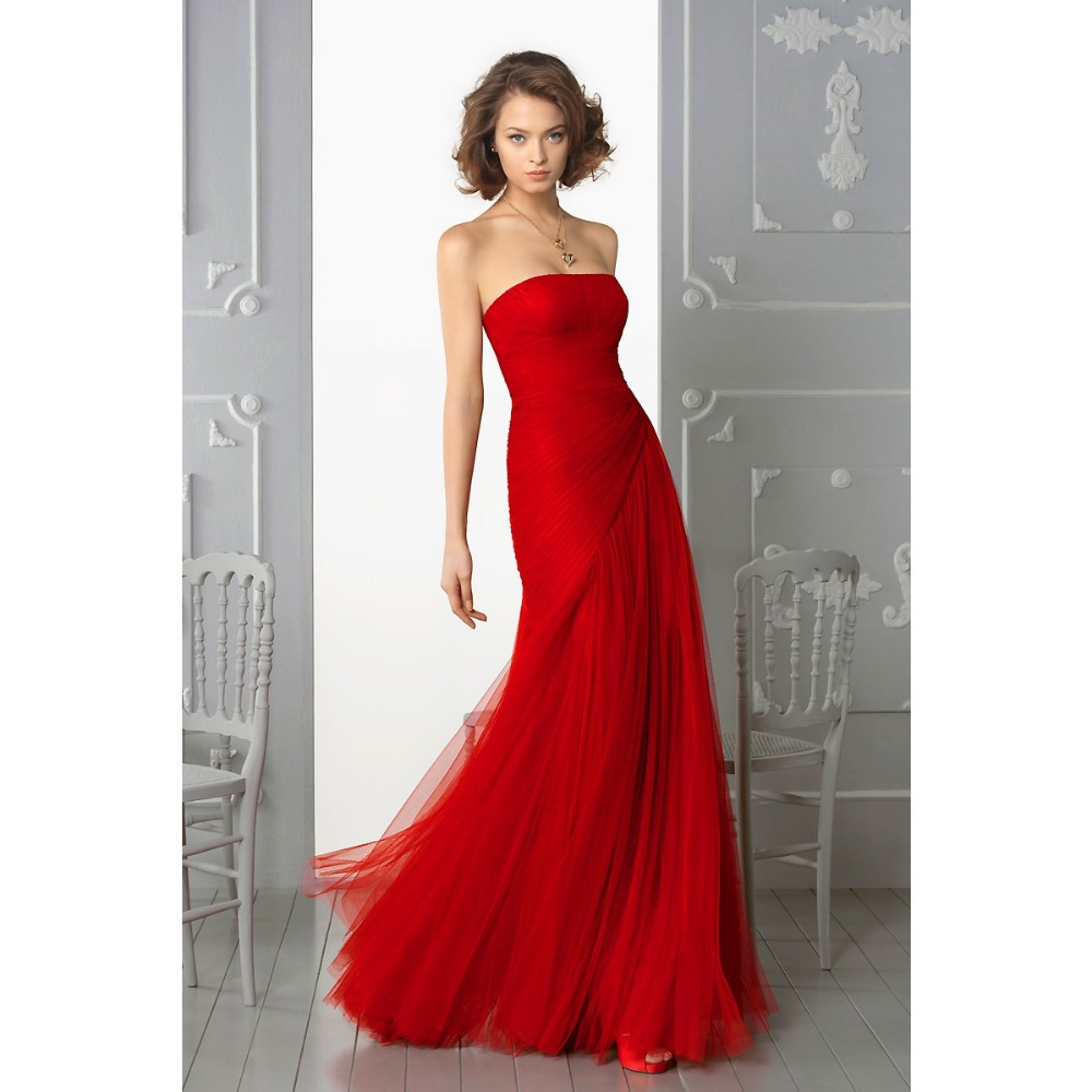 Aliexpress Com Buy Strapless Ruched Bodice Empire Waist: Cheap Prom Dresses Strapless Pleated Bodice Empire Waist