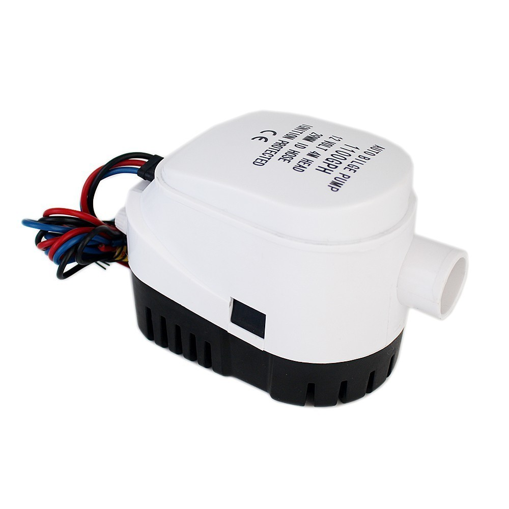 1100GPH DC 12V Automatic bilge pump for boat with auto float switch,submersible electric water pump 12 v volt 12volt 1100 GPH 51mm dc 12v water oil diesel fuel transfer pump submersible pump scar camping fishing submersible switch stainless steel