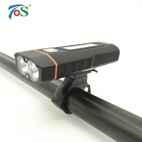 TOS New Bike light Bicycle Lamp Cycling Light 2 x XML T6 LED 4000MAH USB Rechargeable Wheel Bicycle Accessories Bike Front Light