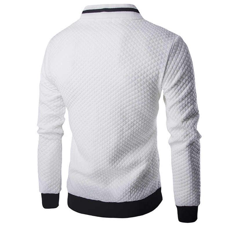 Мужские толстовки 2019 Мужская брендовая повседневная куртка на молнии с воротником-стойкой Sudaderas Hombre Толстовка Белая клетка 3D клетчатый спортивный костюм XXL