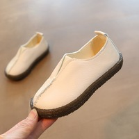 2018 Autumn small children's shoes one foot retro boy shoes bean shoes children's shoes a substitute hair