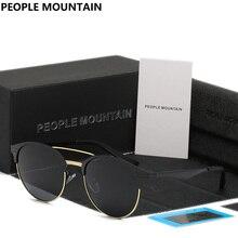 Pueblo de Montaña 2017 Marco de Aleación de Revestimiento Polarizado Espejo gafas de Sol Hombres Mujeres Marca Diseñador Gafas Retro gafas de sol lentes de sol mujer