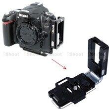 Vertical L placa de liberación rápida de la cámara soporte Holder para Nikon D810 D800 D750 D700 D610 D600 batería Grip Tripod los Ballheads