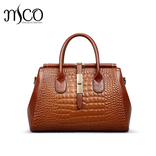 29de438b660 2017 Summer Women Designer Handbags Alligator Genuine Leather Crocodile  Pattern Shoulder Handbag Ladies Luxury Top Handle Bags-in Shoulder Bags  from ...