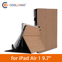 protective tpu Wood Grain Soft Tablets Case For iPad Air 1 9.7 TPU Protective Case Pattern PU Leather Cover Tablet Case For iPad Air 9.7