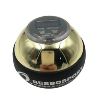 48LBS Golden Power Strengthen Wrist Ball Metal Forearm Muscle Training Pressure Relieve Gyro Ball Force Gyroscope Fitness Ball A
