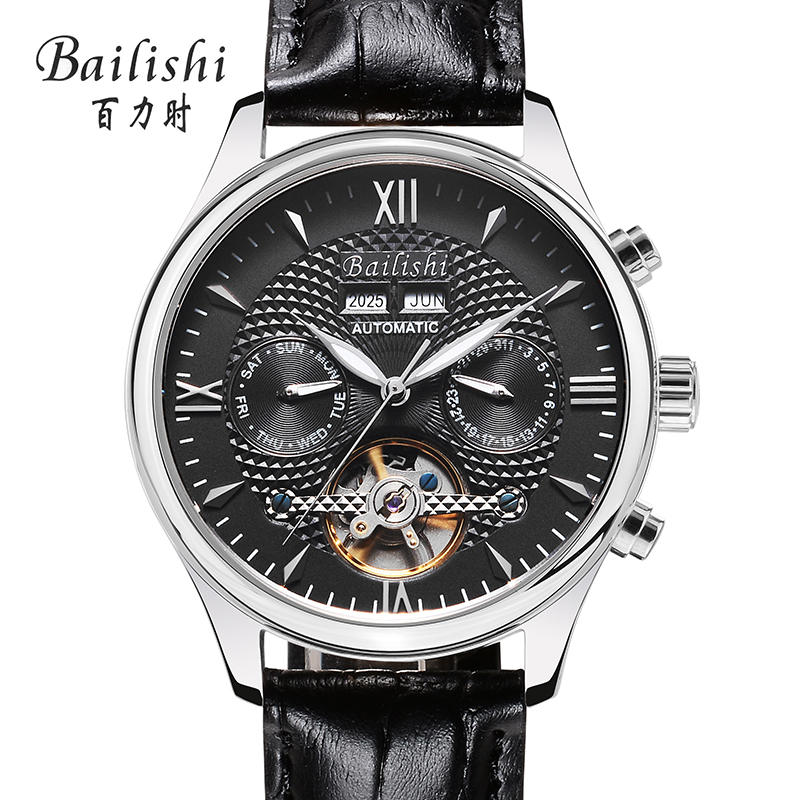 Bailishi Tourbillon Relogio Automatico Masculino Watches Men Full Steel Wristwatch mens watch top brand luxury flywheel gift box relojes hombre 2017 mens watches top brand luxury carnival simple relogio automatico masculino dress stainless steel gift clock