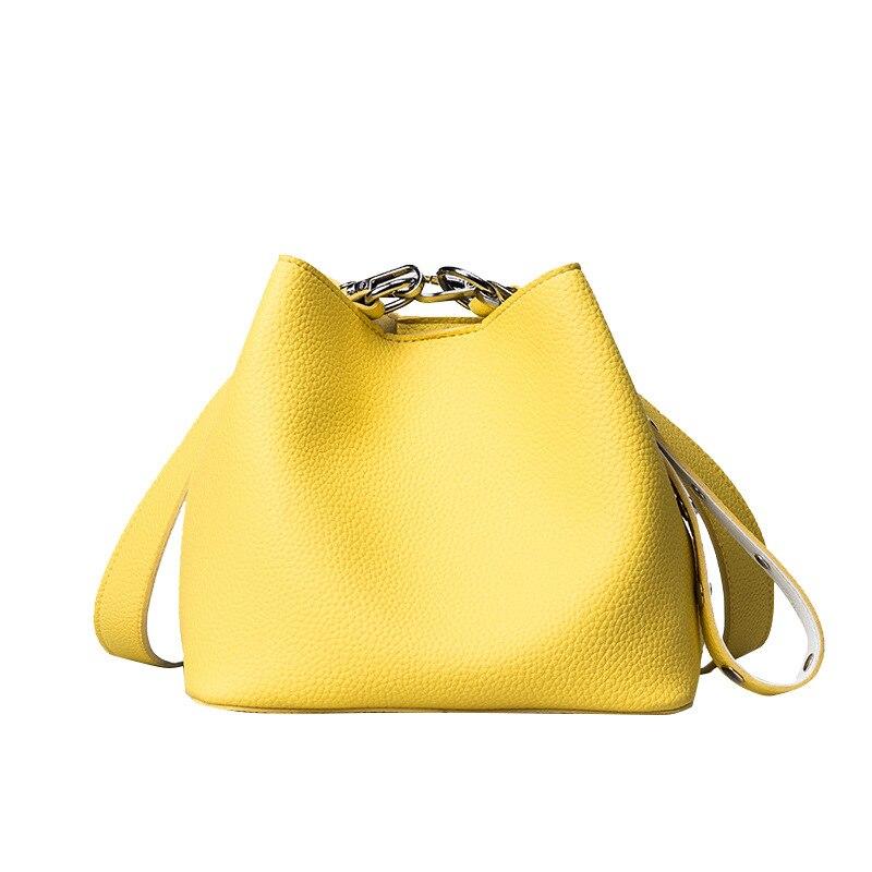 Fashion Candy Color Bucket Bag Women High Quality Handbag Pu Leather Shoulder Bag Brand Desinger Ladies