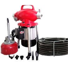 Automatic Pipe Dredge Machine 220V Pipe Dredging Sewer Tools Professional Clear Toilet Blockage Drain Cleaning Machine GQ-80