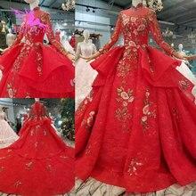 AIJINGYU robe de mariée gants turcs en ligne Designers luxe Simple dentelle musulmane vestes pour robe Discount robes de mariée