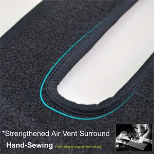 Image 5 - Xukey apto para hyundai solaris 2 accent 2017 2018 dashmat traço esteira do painel capa almofada sun sombra traço placa capa tapete