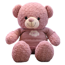 High Quality 100CM 4 Colors Sweater Teddy Bear Stuffed Animals Bear Plush Toys Teddy Bear Doll Lovers Birthday Baby Girl Gift