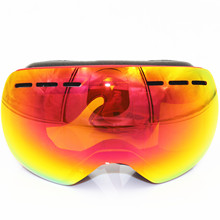 Professional Ski Goggles Men Women Anti-fog 2 Lens UV400 Adult Winter Skiing Eyewear Snowboard Snow Goggles Set Full color