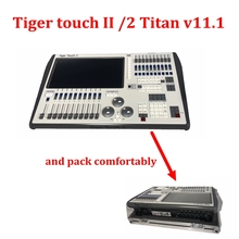 tiger touch dmx controller  V11 Tiger Touch II 2 Lighting Console Tiger Touch dmx console with flycase tiger touch fader wing dmx lighting console touchwing moving head dj lights controller with flight case