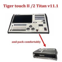 Tiger touch dmx контроллер V11 Tiger Touch II 2 осветительная консоль Tiger Touch dmx консоль с flycase